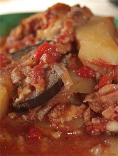 Zapiekane warzywa z mięsem mielonym