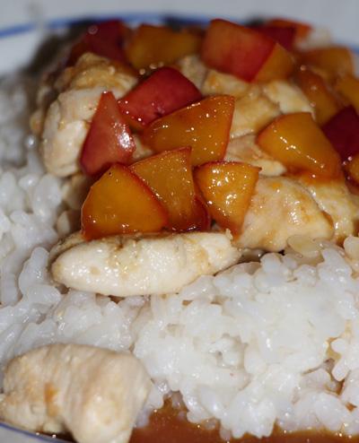Kurczak, ryż i pomarańcze